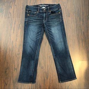 American Eagle jeans artist crop stretch size 6
